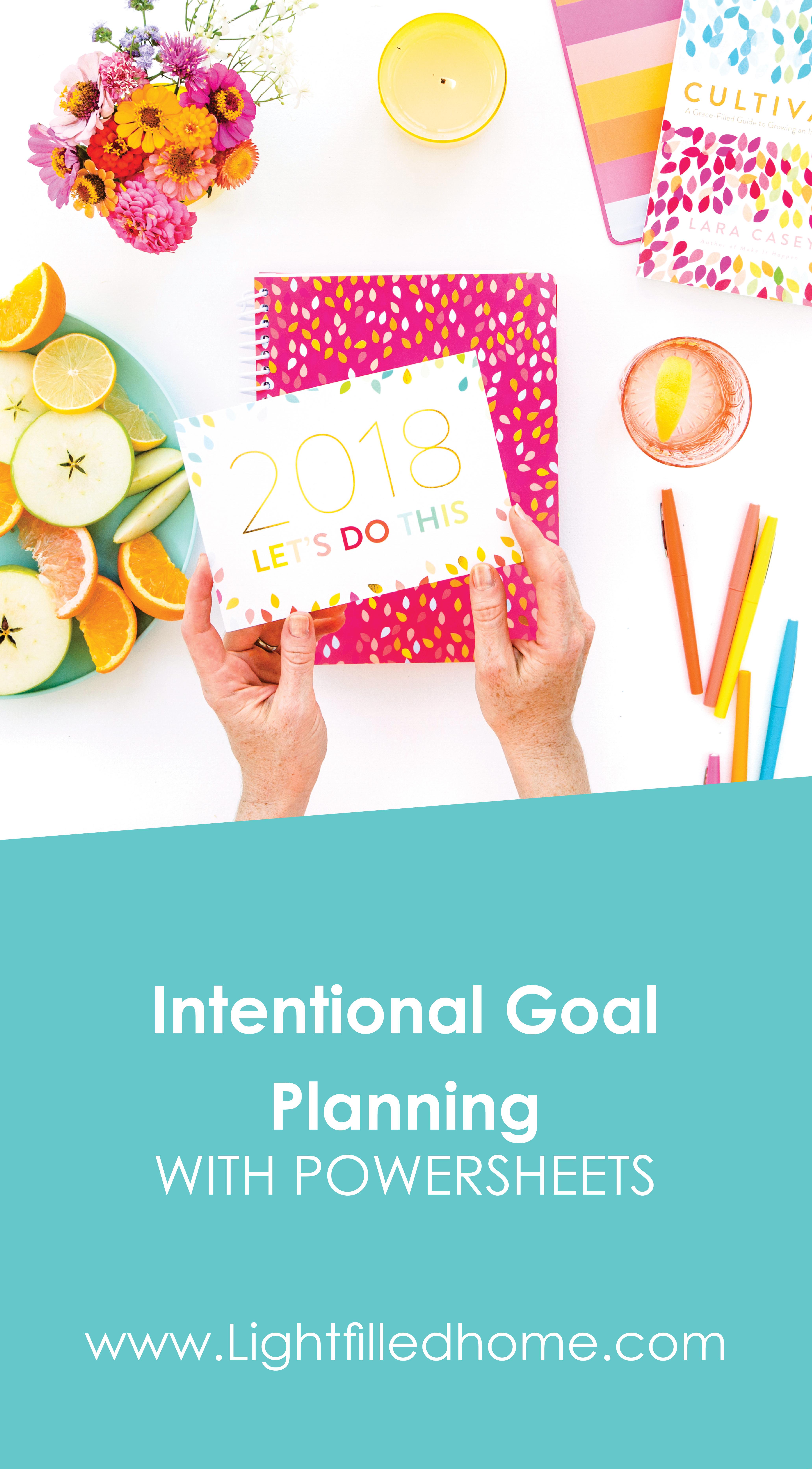 Intentional Goal Planning   Lightfilledhome.com/blog