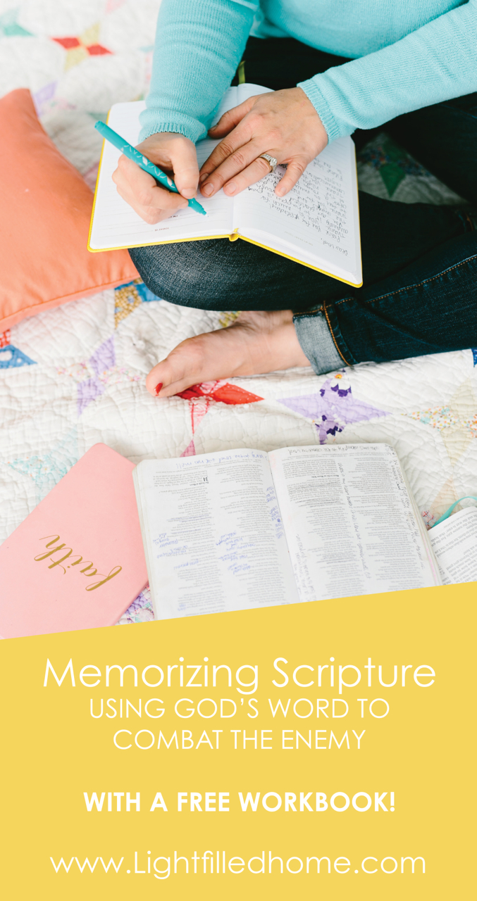 Memorizing Scripture | Lightfilledhome.com