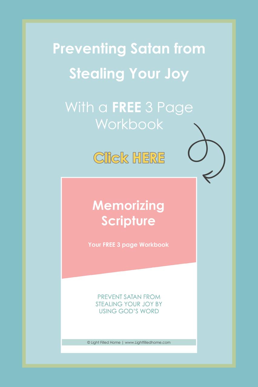 Memorizing Scripture | Lightfilledhome.com