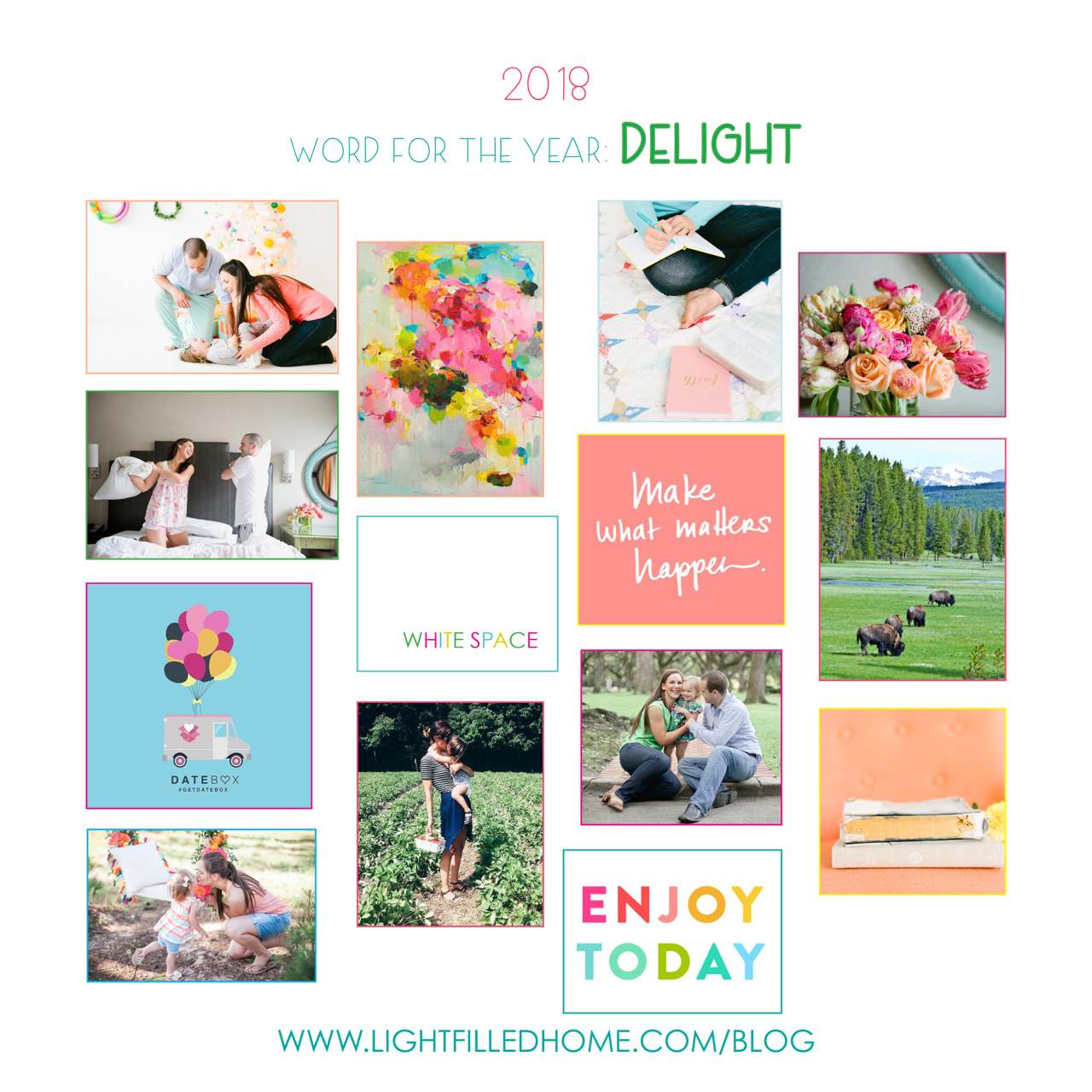 Delight in 2018 | Setting Good Goals | Lightfilldhome.com/blog
