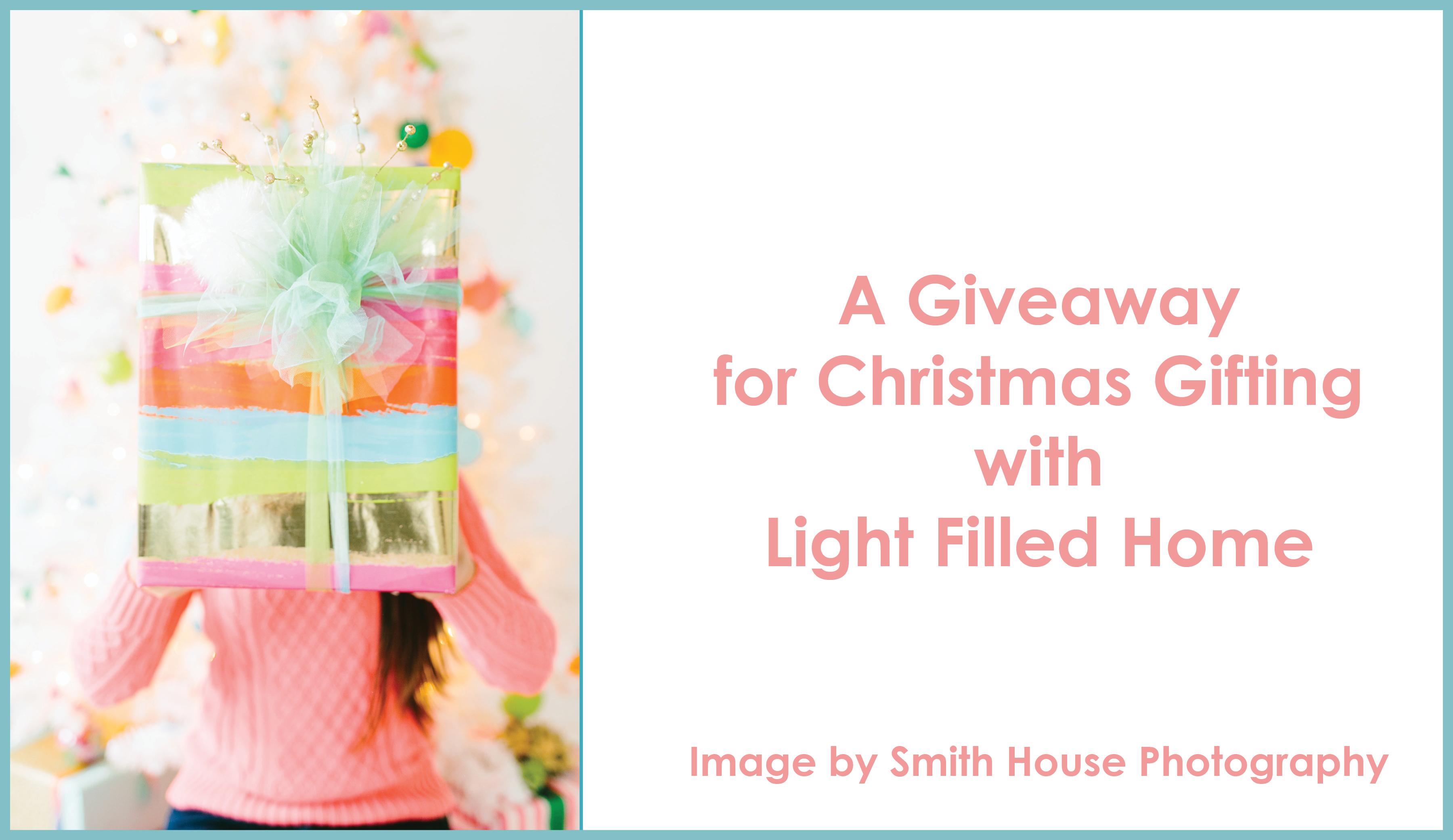 Christmas Giveaway | Lightfilledhome.com