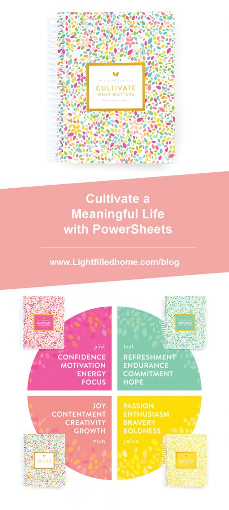 Cultivate a Meaningful Life with PowerSheets   Lightfilledhome.com/blog