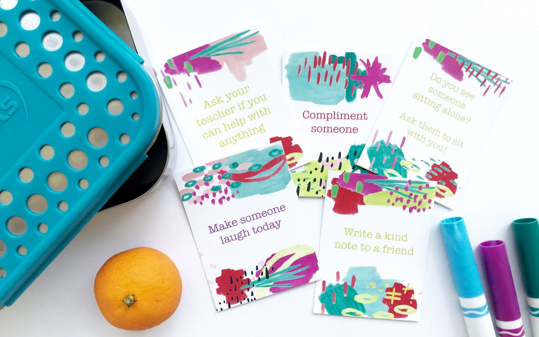 Lunchtime Kindness Cards| Free Download