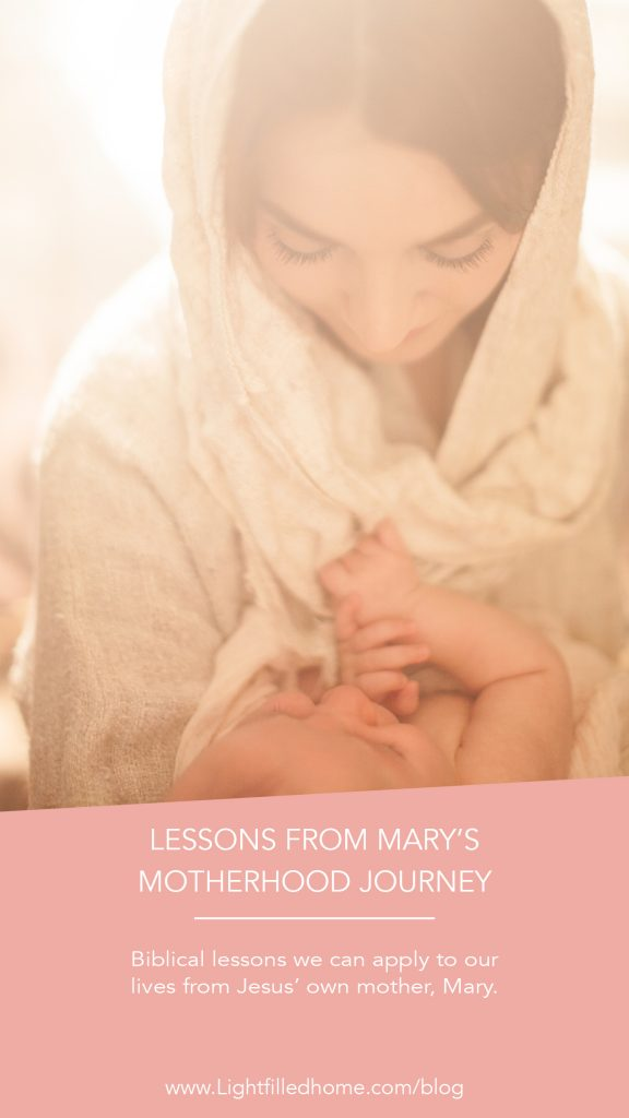 Lessons from Mary's motherhood journey | Lightfilledhome.com