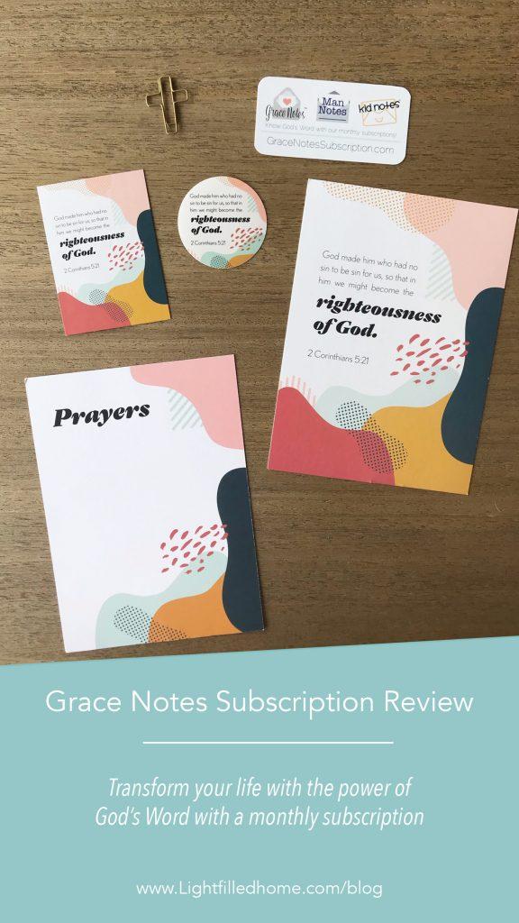 Grace Notes Review | Lightfilledhome.com/blog